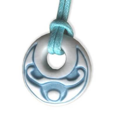 Taurus zodiac pendant in porcelain by Belen Berganza