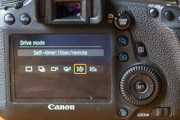 Self timer drive mode kamera