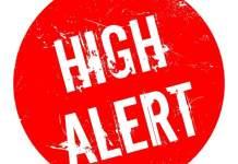 High alert logo