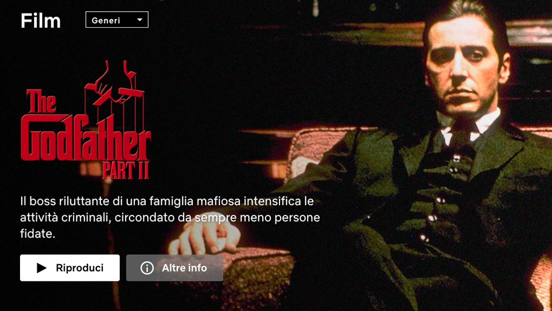The Godfather in Italiaans op Netflix
