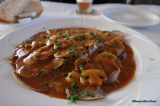 One of those typical Belgian dishes. Delicious! Enjoyed at 3 Fonteinen restaurant, Beersel