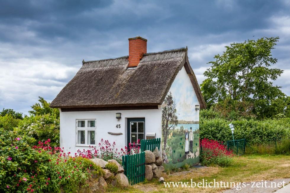 Haus mit Wandgemälde