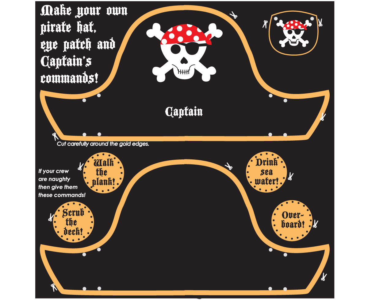 Pirate Hat And Eye Patch Craft