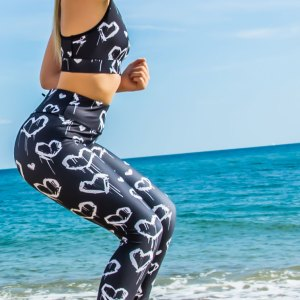 Graffiti Heart Leggings
