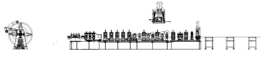 layout of c and z purlin machine