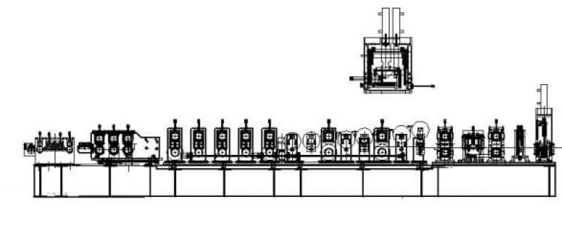 Z Purlin Roll Forming Machine layout