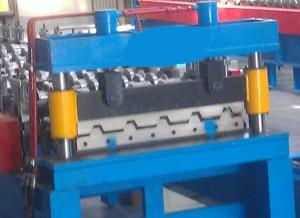 Cutoff device of ibr roof sheet making machine