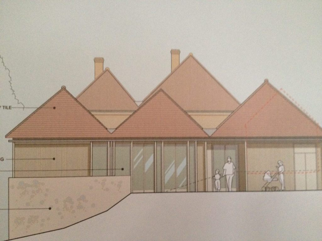 Architect's elevation of building