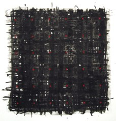 Grid, ink and acrylic on paper Belinda-Broughton-