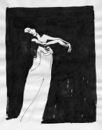 woman in grief (ink on paper)