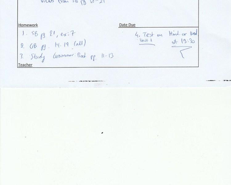 Homework: Prof. 1 Class, Agia Paraskevi 10/10/18
