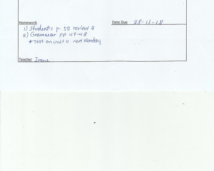 Homework: E/Fc class, Agia Praraskevi 26/11/18