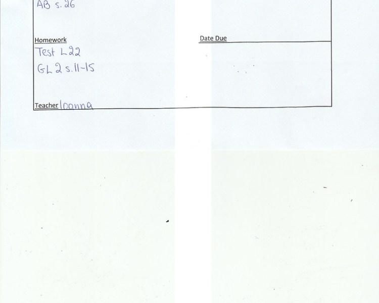 Homework: Deutsch B1, Agia Paraskevi 4/12/18