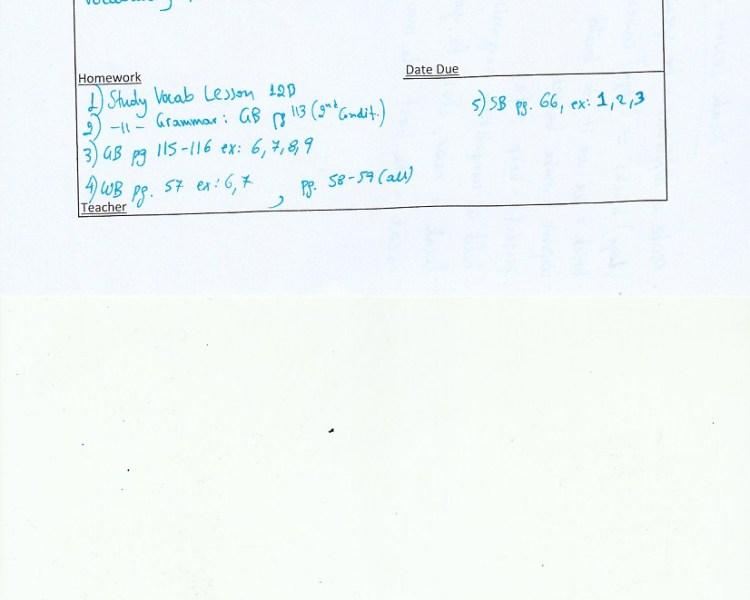 Homework: C class, Agia Paraskevi 20/2/19