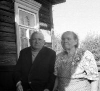 Абрам Рабинович и его жена Ольга. Фото 1997 г.