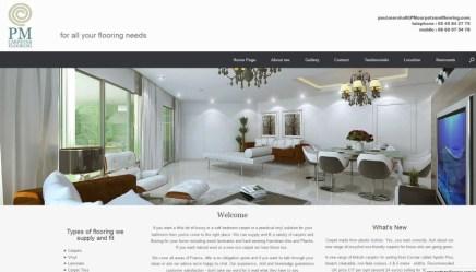 Homepage with hero slideshow and three columns of info