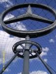 rotating Mercedes star (Bahnhofsturm)