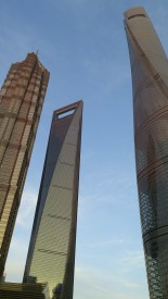Jin Mao Tower, Shanghai World Financial Center, Shanghai Tower = 金茂大厦, 上海环球金融中心, 上海中心大厦 낮