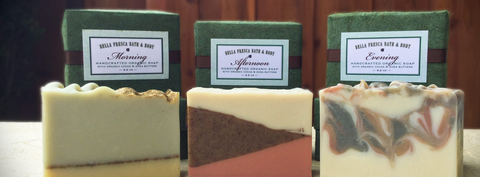 organic soaps and packaging