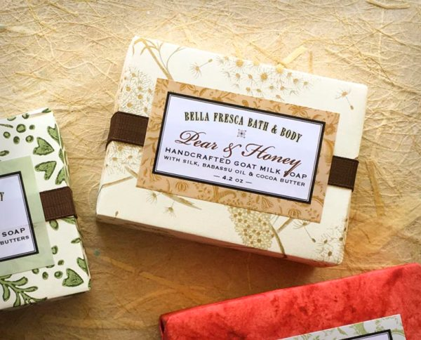 Pear & Honey Soap Package