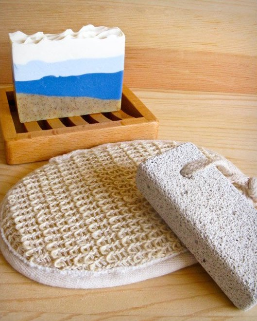 Ramie Exfoliating Pad and accessories