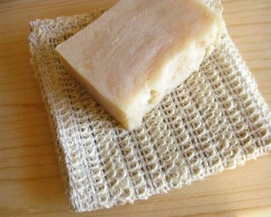 Ramie Wash Cloth with soap