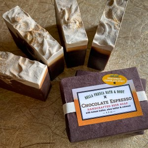 Chocolate Espresso Beer Soap Package