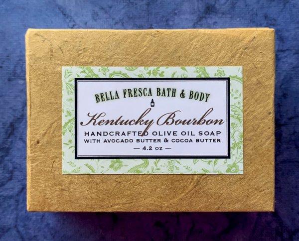 Kentucky Bourbon Soap package