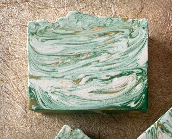 Orange Spruce Oatmeal Soap