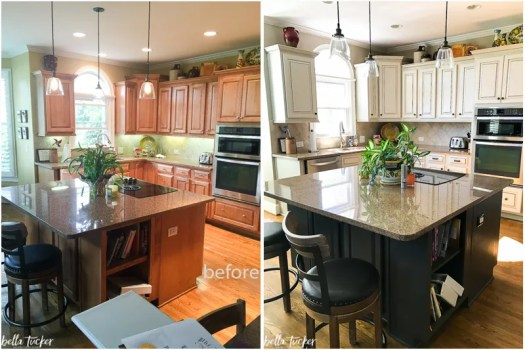 Before And After By Bella Tucker Decorative Finishes Painted Kitchen Cabinets Accessible Beige