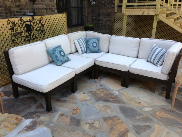 outdoor patio furniture sofa How To Rehab an Outdoor Sectional