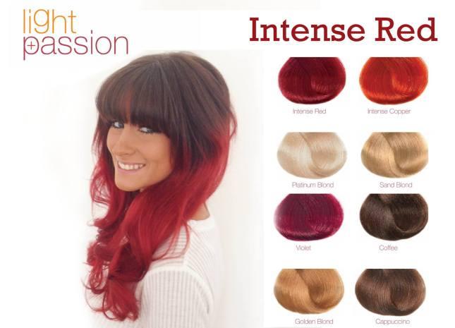 Frizura intenzivna crvena preliv za kosu
