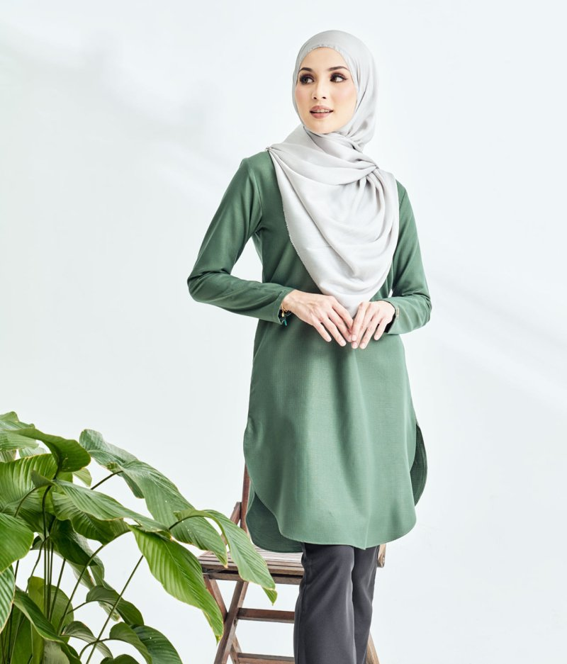 Lily Long Top Army Green
