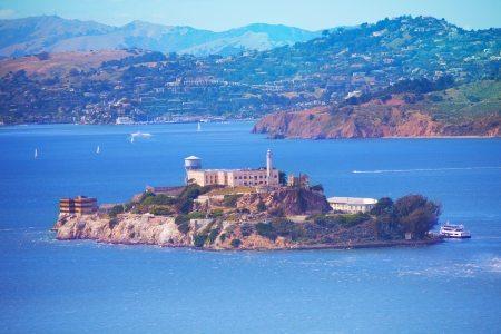 San Francisco bay and Alcatraz island
