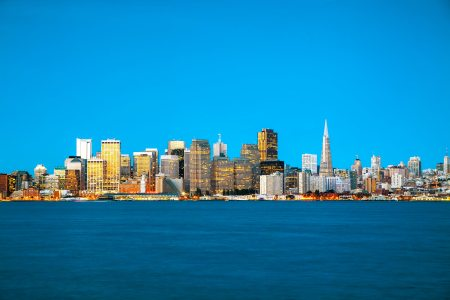 San Francisco cityscape as seen from Treasure Island