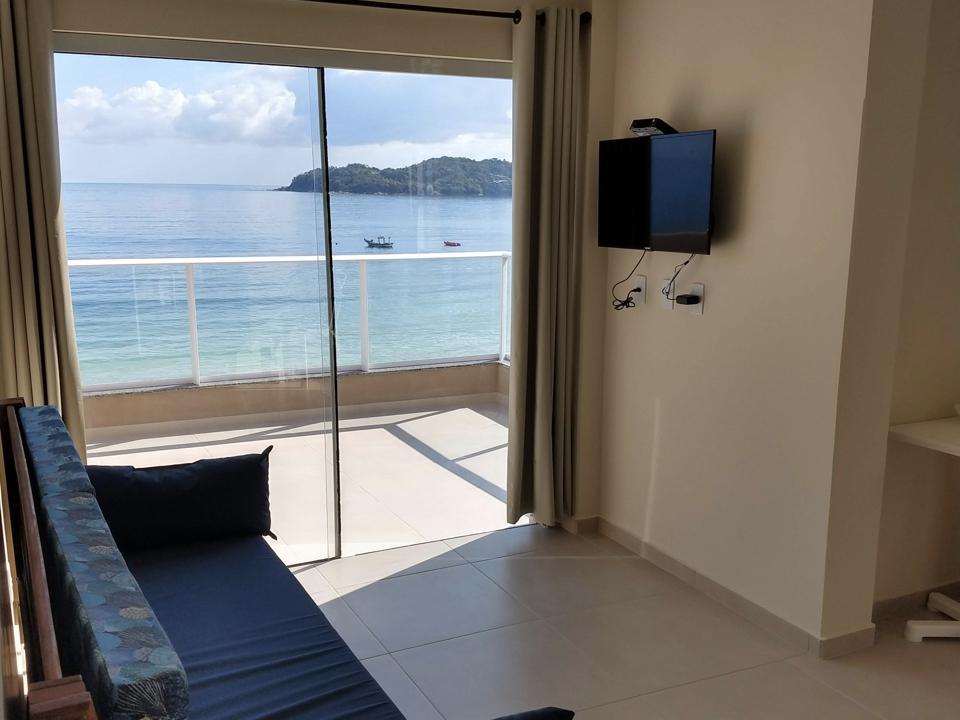 Apartamento Frente Ao Mar De Bombinhas - Sala