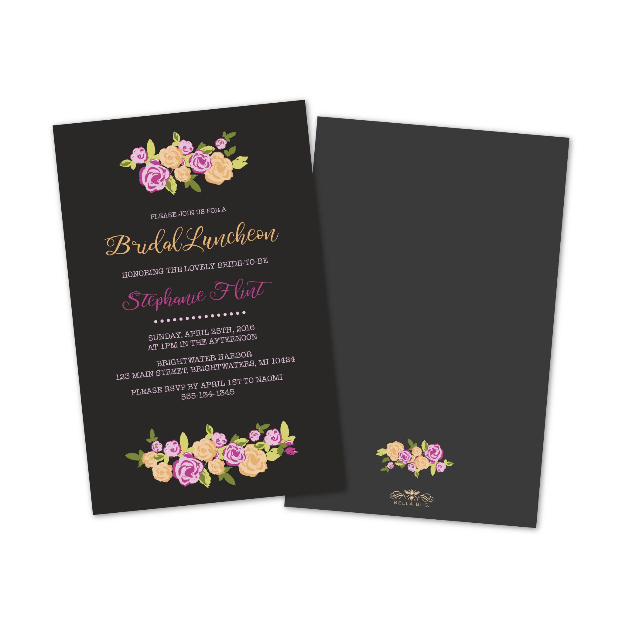 Personalized Bridal Invitations