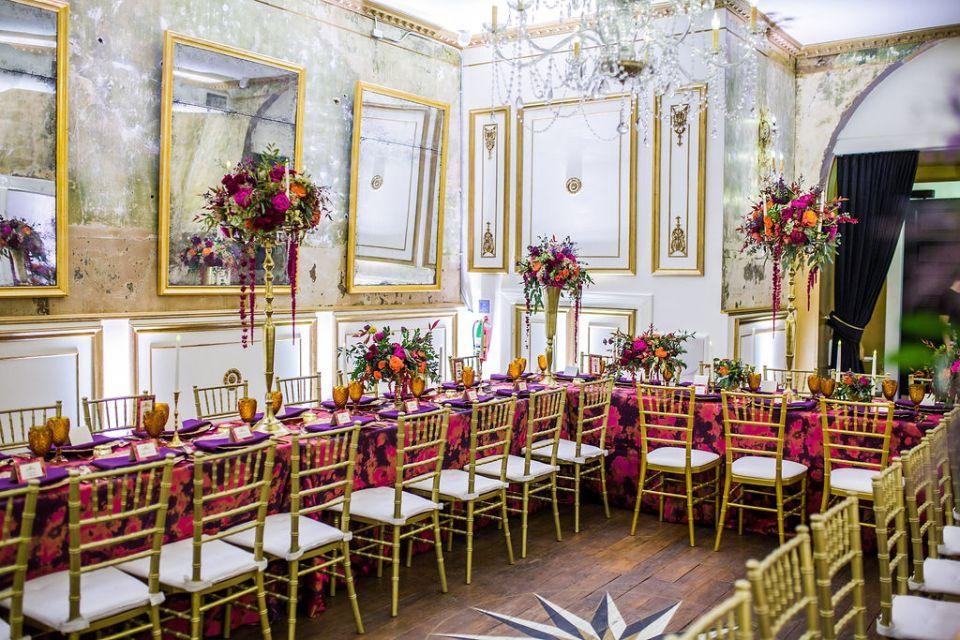 Large glamorous statement wedding centerpieces