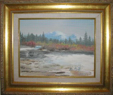 Landscape--Watercolor Painting by Bella Chartrand from Survival Reality TV Show Utopia