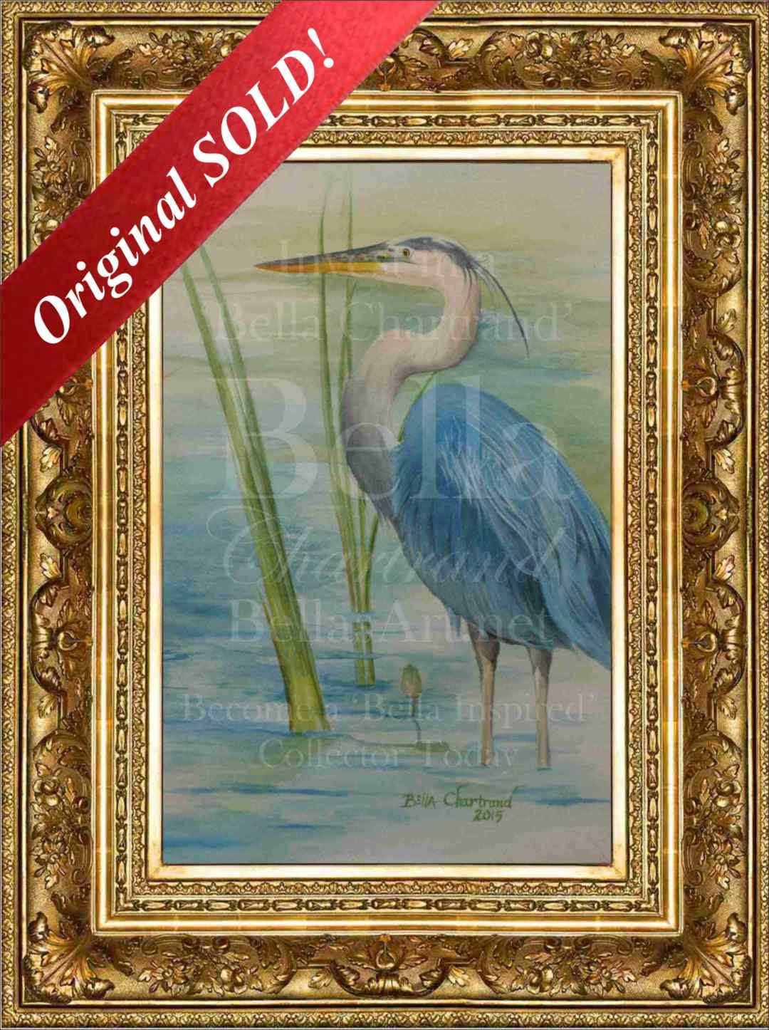 Bella Blue Heron from Bella Inspired Wildlife Collection by Bella Chartrand from Utopia USA