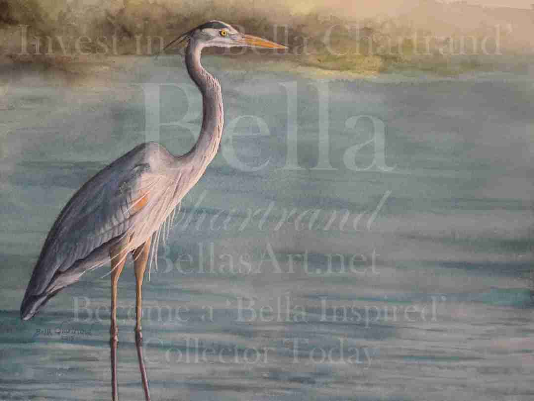 """Great Blue Heron"" from Bella Inspired Wildlife Collection by Bella Chartrand from Utopia USA"