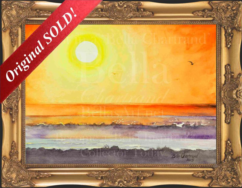 Mourning_Flight-Watercolor Painting by Bella Chartrand from Survival Reality TV Show Utopia