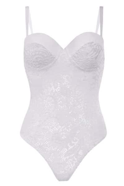 Plus size push up lace teddy - bella curves lingerie