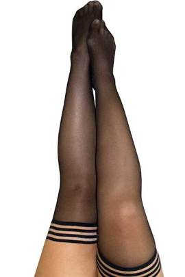 Kix'ies Thigh Highs - Opaque Black