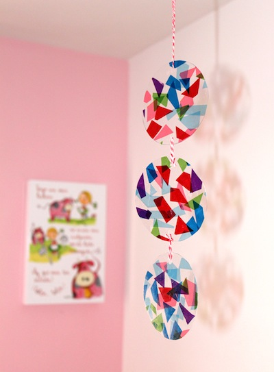 Tissue Paper Stained Glass Mobile Things To Make And Do