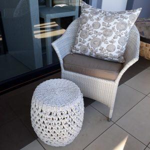 Single weaved Molar chair in white.