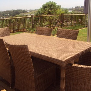 Fully weaved Malindi six seater dinning table