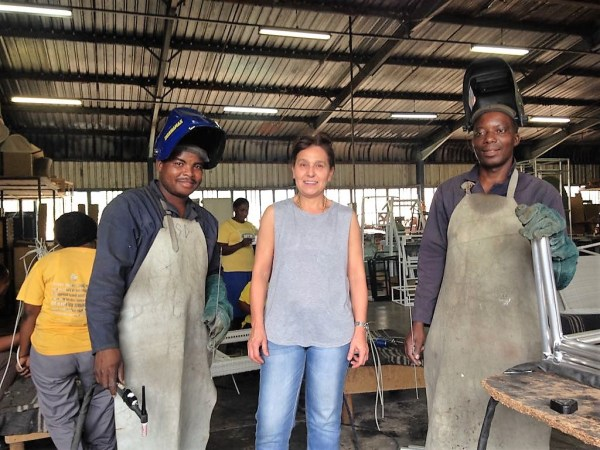 Angela and the welding team