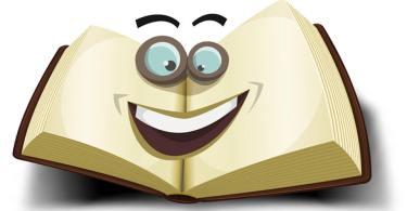 grafika egy mosolygó könyvről