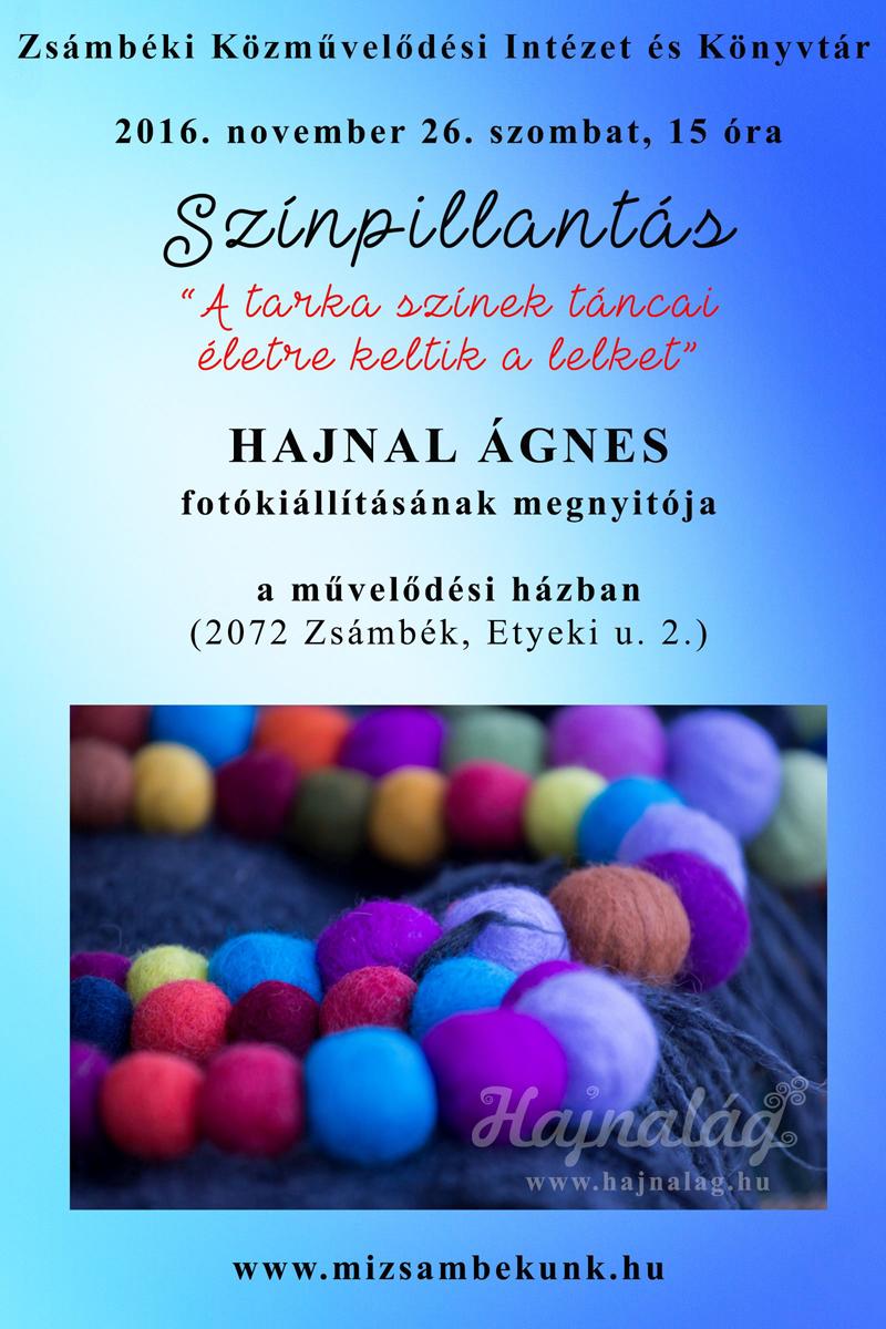 Színpillantás - Hajnal Ágnes fotókiállításának plakátja